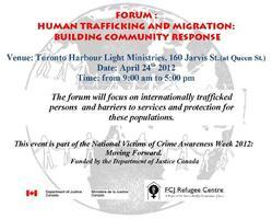 Forum: Human Trafficking and Migration: Building...