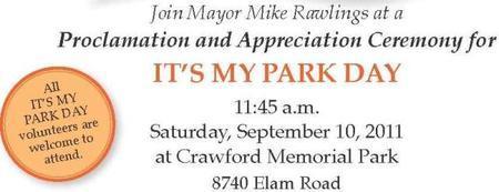 It's My Park Day Appreciation Ceremony
