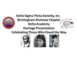 Delta Academy Heritage Presentation