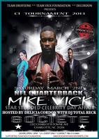 CI-2013 NFL QUARTERBACK MIKE VICK STAR STUDDED DAY...