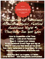 Steingarten LA Music Fest - Industry Night #1 - Audition for Toby Wright!