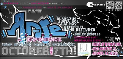 A R.A.R.E. Experience : R.AW A.RTISTIC R.ADICAL...