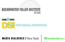 The Buckminster Fuller Institute, MFA Design for Social Innovation, and Marfa Dialogues/NY logo