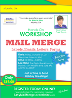 Mail Merge WORKSHOP: Create Labels, Emails, Letters,...