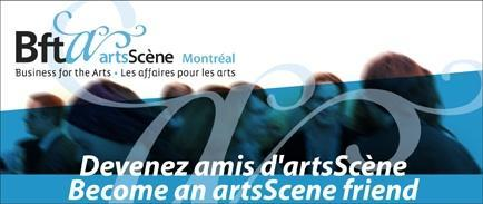 Devenir amis d'artsScène / Become an artsScene friend