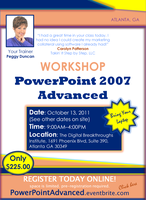 PowerPoint Advanced WORKSHOP:  (Levels 2 & 3) with...