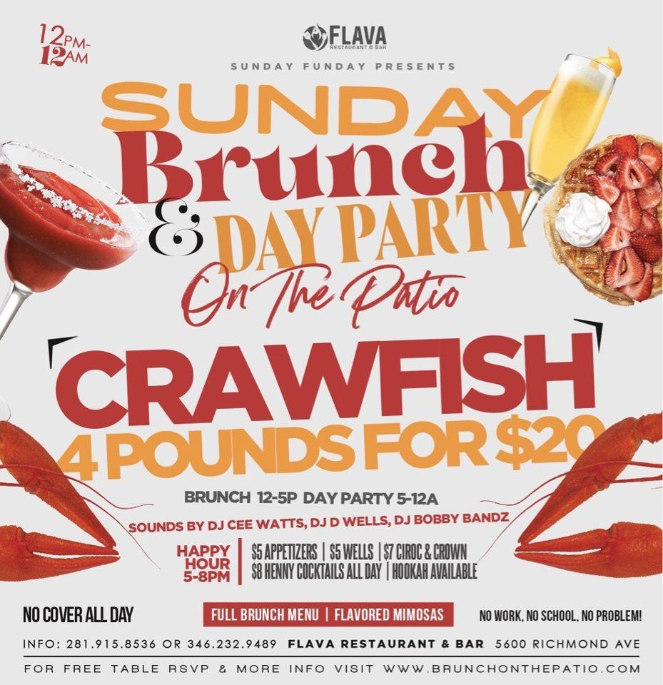 """SUNDAY FUNDAY PRESENTS """"SUNDAY BRUNCH & DAY PARTY"""" ON THE PATIO @ FLAVA"""