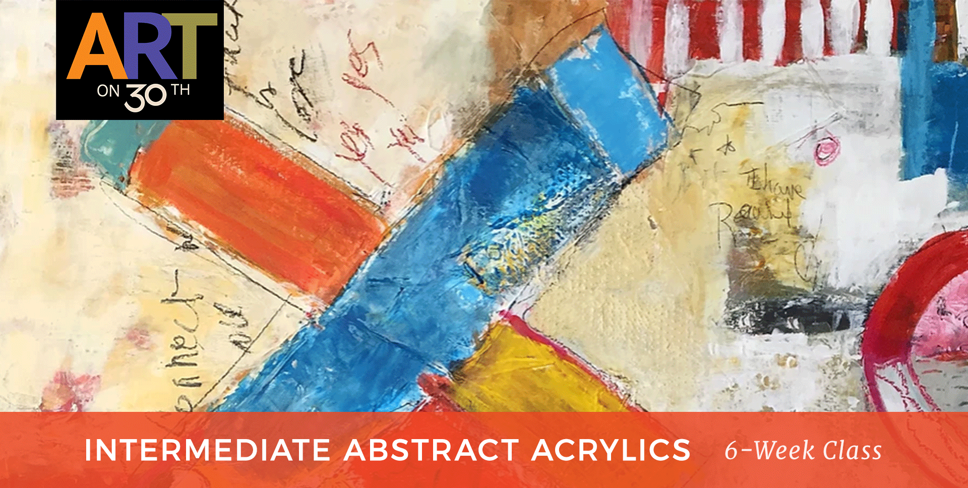 TUE AM - Intermediate Abstract Acrylic Painting with Kate Ashton