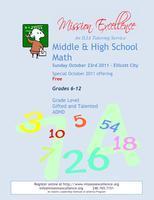October Special - Free Math Tutoring