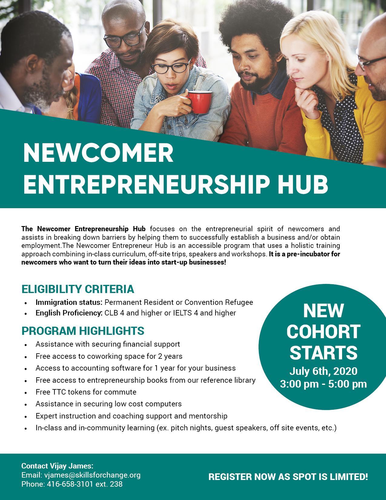Newcomer Entrepreneurship Hub Program - September 2020
