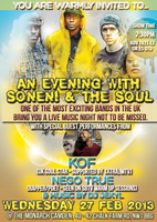 An Evening With Soneni & The Soul with special guest...