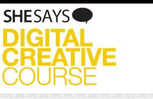 SheSays presents Digital Creative Course