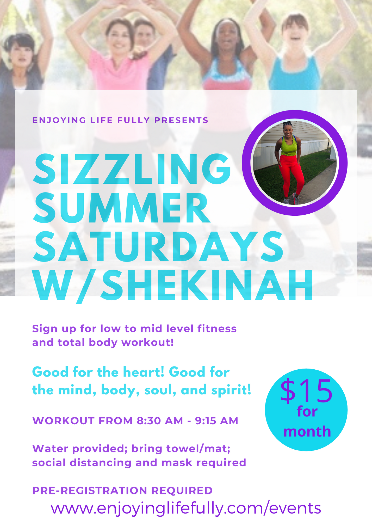 Sizzling Summer Saturdays w/Shekinah - Month of August