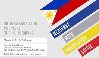 Merienda with Ambassador Cuisia 2013
