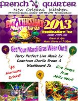 Fat Tuesday Mardi Gras Party at French Quarter New Orle...