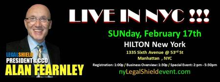 NY SUPER SUNDAY w/LegalShield President, ALAN FEARNLEY!!!