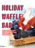 Holiday Waffle Bar