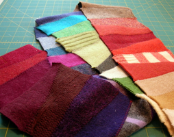 Making Felted Scarves (and other projects using...