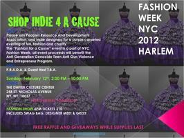 NYC Fashion Week 2012 Harlem Shop Indie 4 A Cause...