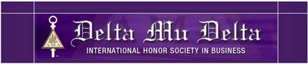 Delta Mu Delta Honor Society Induction