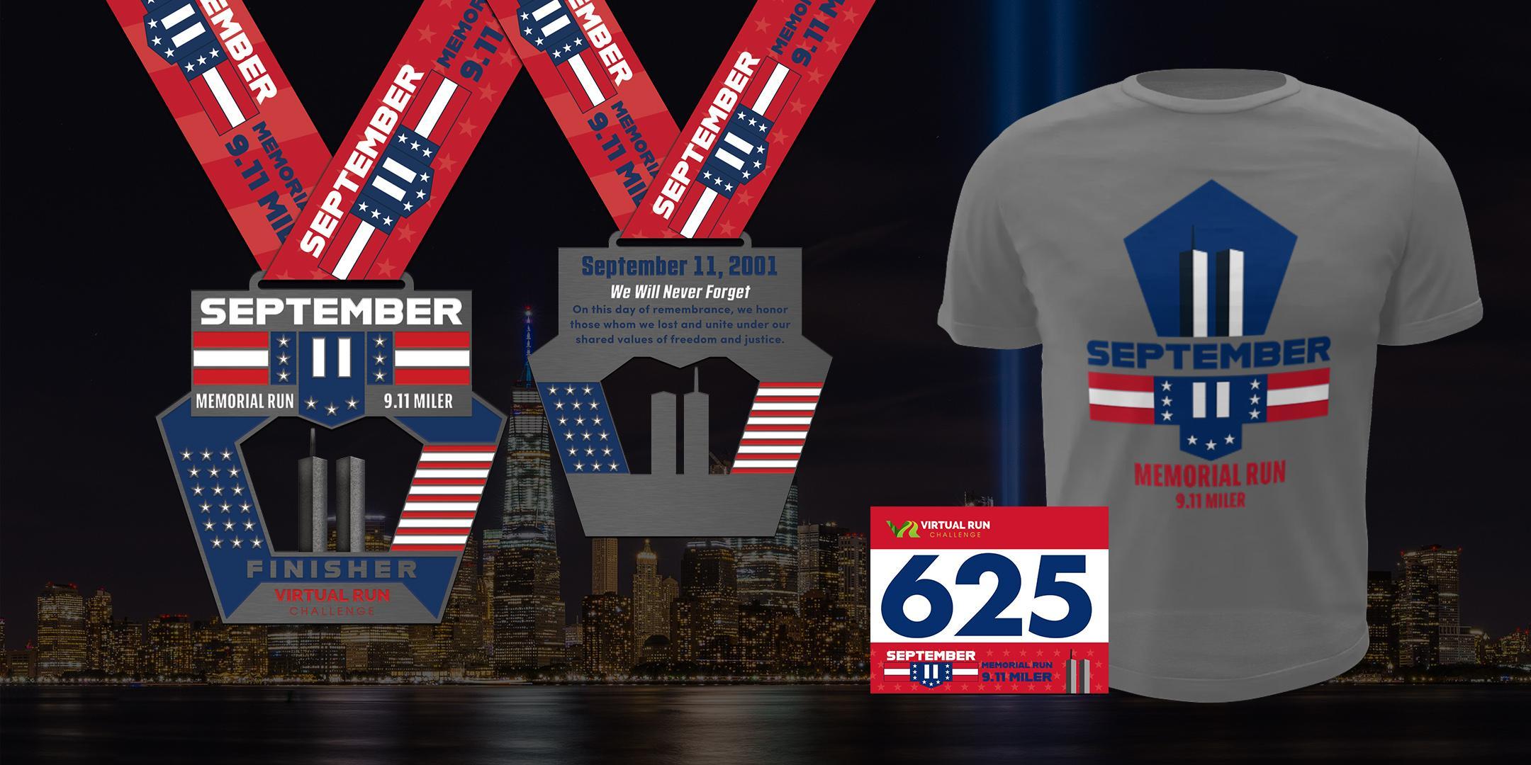 September 11 Memorial Virtual Run Walk (9.11 Miles) - Carlsbad