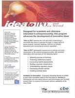 Center for BioEntrepreneurship presents: Idea to IPO...