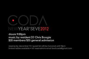 Coda Presents: New Year's Eve 2012
