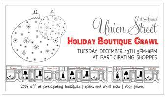 1st Annual Union Street Holiday Boutique Crawl