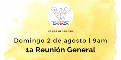 1a Reunion General Domingo 2 de agosto 2020