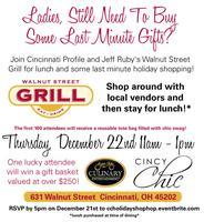 Jeff Ruby's Walnut Street Grill Holiday Shop Hop