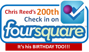 Chris' 200th Foursquare Check & Birthday Party!