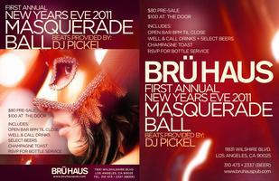 BRÜ HAUS New Year's Eve Masquerade Ball and New Year's...