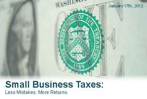 Small Business Taxes: Less Mistakes, More Returns
