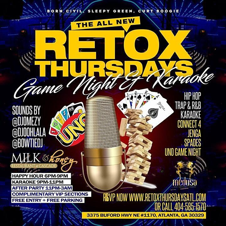 Retoxthursdays--Karaoke, Food & Game Night