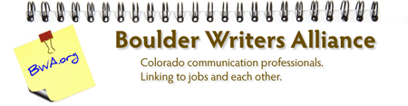 Boulder Writers Alliance - February 2012