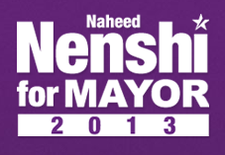 Re-elect Mayor Naheed Nenshi logo