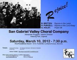 "San Gabriel Valley Choral Company Presents ""Rejoice!"""