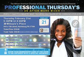 Perfect Your Pitch Industry Night | A Professional...