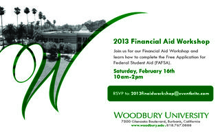 2013 Financial Aid Workshop
