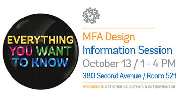 RSVP: School of Visual Arts - MFA Design Information...