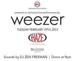 AG Jeans Party for MAGIC w/ Weezer Performing Live at...