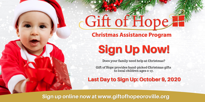Sign Up For Christmas Help 2020 Gift of Hope 2020 Online Application Registration, Tue, Oct 13
