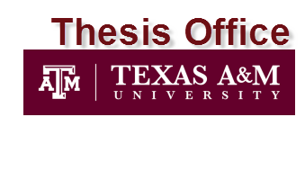 Galveston: Graduate Processing and Thesis Office...
