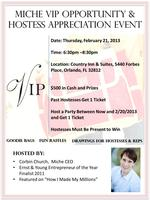 Miche VIP Opportunity and Hostess Appreciation Event
