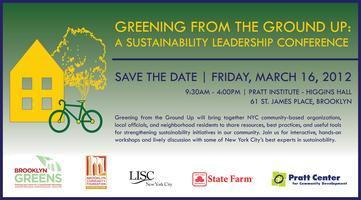 Greening From The Ground Up:   A Sustainability...