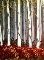 Autumn Birch Wood - Johnny Carino's 3-26-12