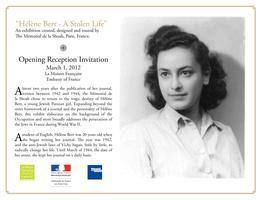 """Hélène Berr - A Stolen Life"" / Opening Reception"
