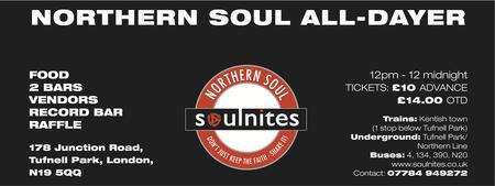 3rd London Northern Soul All-Dayer Sunday 17th June...