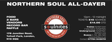 2nd London Northern Soul All-Dayer Sunday 15th APRIL...