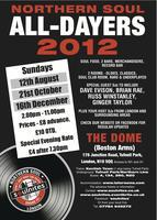 4th London Northern Soul All-Dayer Sunday 12th August...